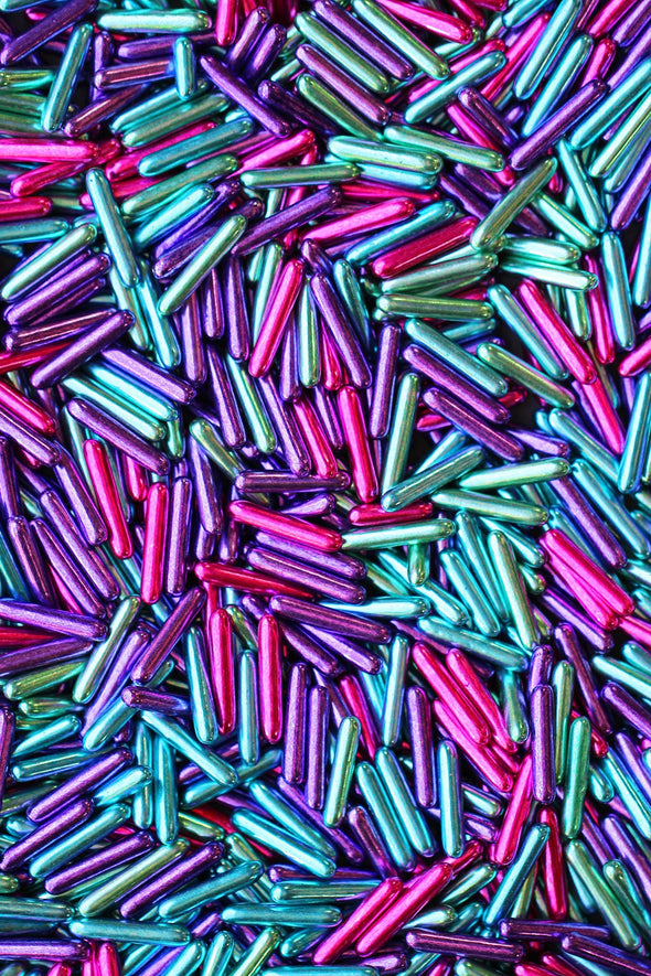 METALLIC RAINBOW RODS - FANCY SPRINKLES