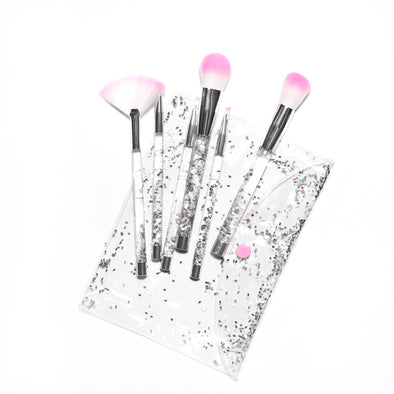 WHITE GLITTERY BLENDING BRUSH SET (7 Pieces)