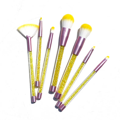 YELLOW GLITTERY BLENDING BRUSH SET (7 Pieces)