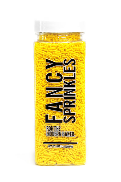 YELLOW CRUNCHY JIMMIES® (VEGAN) - FANCY SPRINKLES