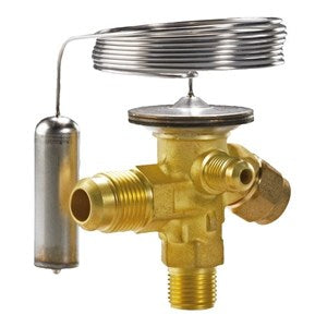 Carrier 068Z3204 Thermostatic expansion valve, TXV Valve TEF 2 Ext, obsolete, superseded by 068Z3348, HS code 848180. صمام التمدد الحراري, Injap pengembangan, Термостатический расширительный клапан