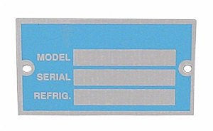 COMPRESSOR TAG ID PLATE, 10 PACK SM - appspares