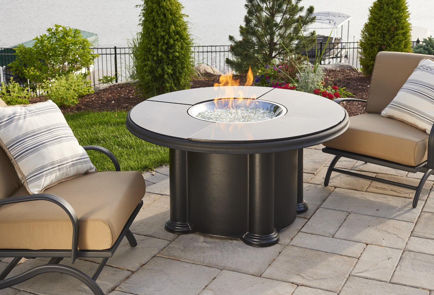Grand Colonial Fire Pit Table Absolute Black Fire Savage