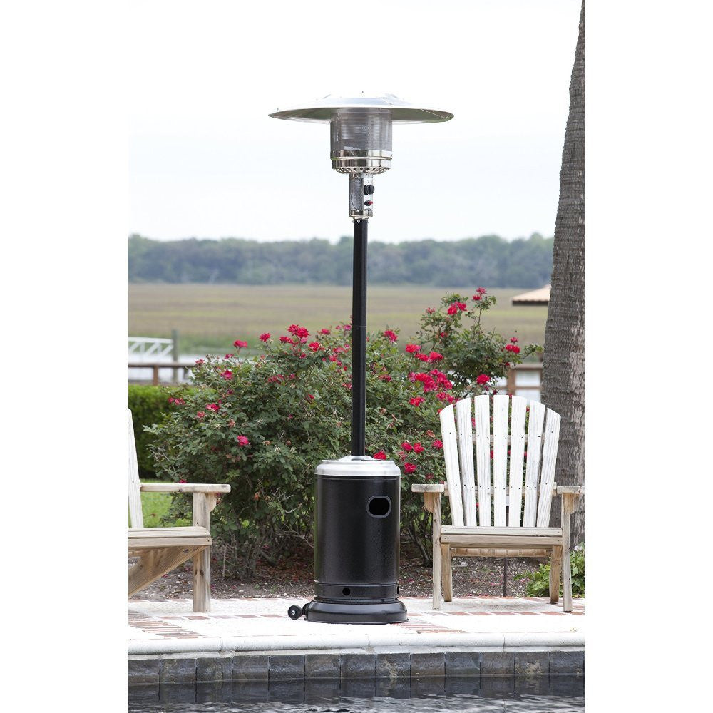 Hammered Black U0026 Stainless Steel Commercial Patio Heater