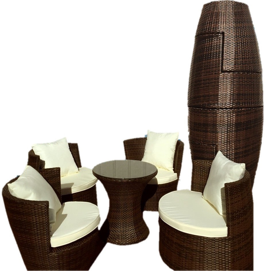 Wicker Patio Chairs In Geovase Piece Wicker Patio Furniture Set Fire Savage