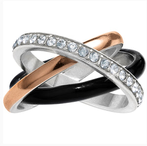 Brighton Neptune's Rings Black Trio Ring J6244B