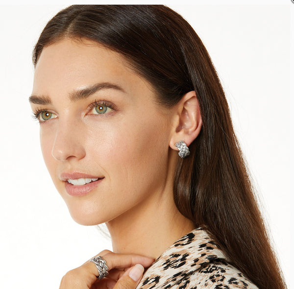 Brighton Interlok Woven Hoop Earrings JA5830
