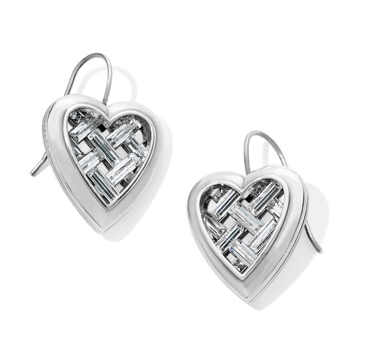 Brighton Love Cage Heart French Wire Earrings JA6431