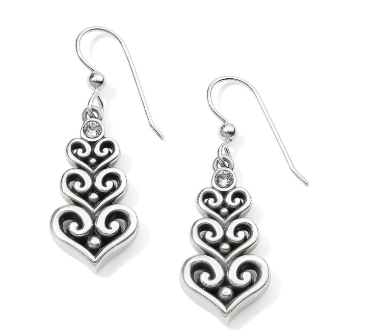 Brighton Alcazar Heart Trio French Wire Earrings JA5171
