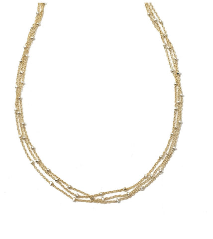 Erin Gray Phoebe Triple Necklace in Gold