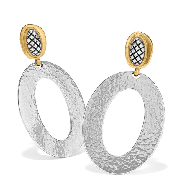 Brighton Ferrara Artisian Two Tone Drop Earrings JA6902