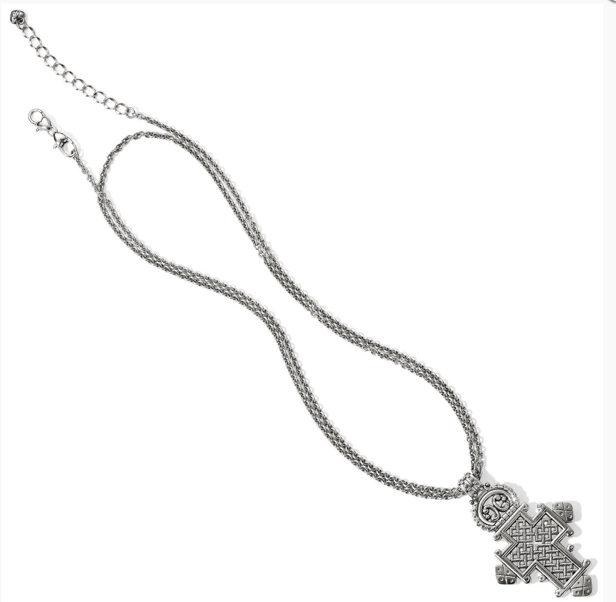 Brighton Ethiopian convertible cross necklace