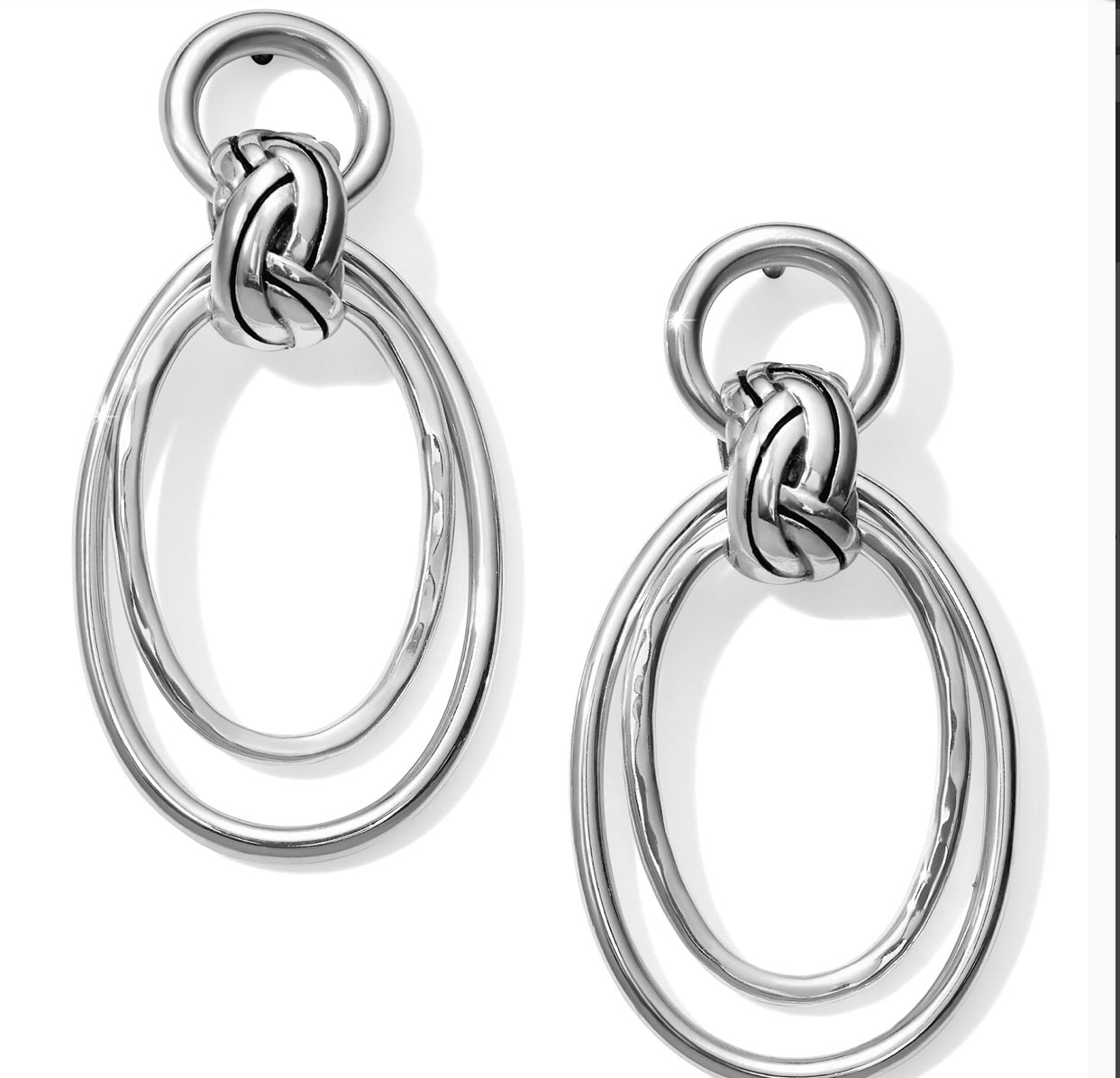 Brighton Interlok Rings Post Drop Earrings JA4670
