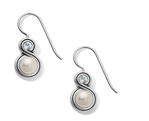 Brighton Infinity Pearl French Wire Earrings JA6293