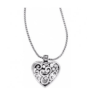 Brighton Contempo Heart Badge Clip Necklace JN3040