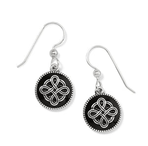 Brighton Interlok Noir French Wire Earrings JA7253