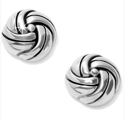 Brighton Interlok Knot Post Earrings JA5540