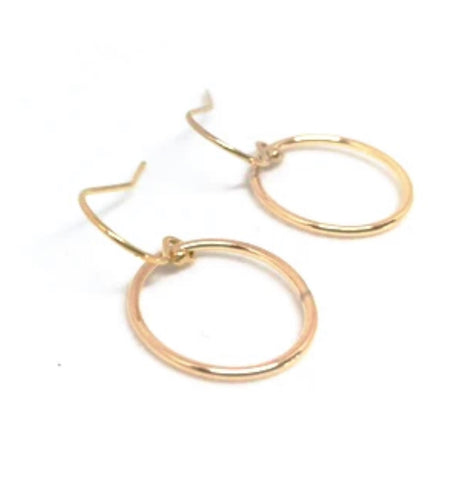 Erin Gray Circle of Love Gold Hoop Earrings