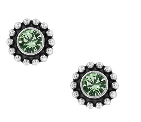 Brighton Twinkle Peridot Mini Post Earrings J2049L