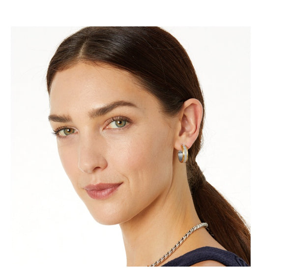 Brighton Meridian Two Tone Hoop Earrings