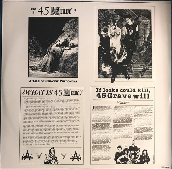 "45 Grave ""Sleep In Safety"" LP"