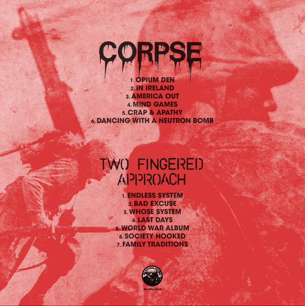 Corpse / Two Fingered Approach SPLIT LP