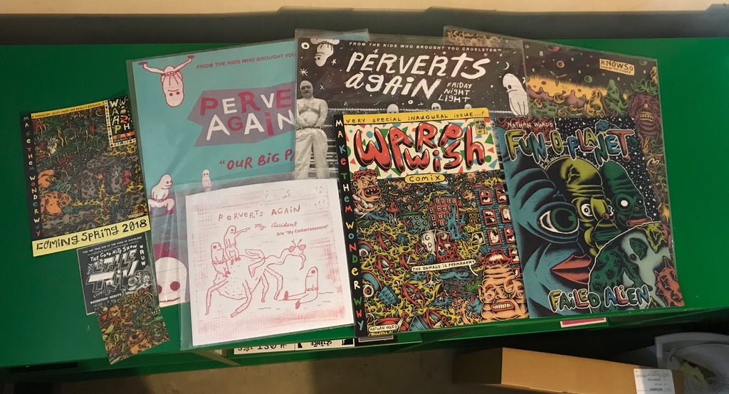 "PERFECT PERVERT PARTY PACK!! 3x LPs, 1x 7"", 2x Comics"