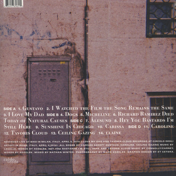 "Mark Kozelek ""Live At Bilko"" 2xLP"