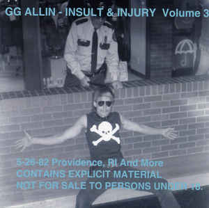 "GG Allin ""Insult to Injury Vol. 3"" CD"