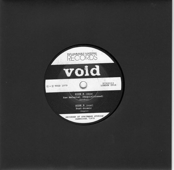 "Void ""Raw Material / Post-Atomic"" 7"" + Zine"