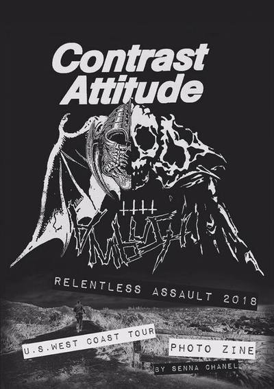 Contrast Attitude Relentless Assault 2018 West Coast Tour Photo Zine