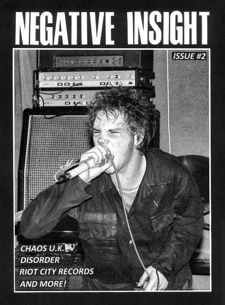 "Negative Insight #2 Zine w/ Chaos U.K. ""Studio Outtakes 1981-1983"" 7"""