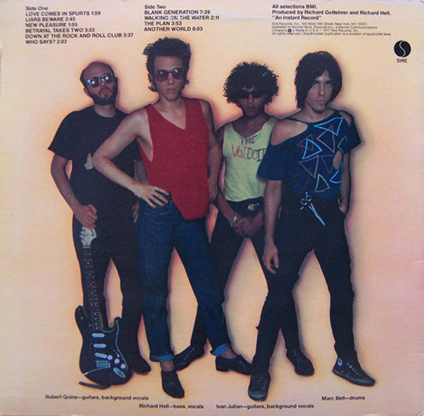 "Richard Hell and the Voidoids ""Blank Generation"" LP"