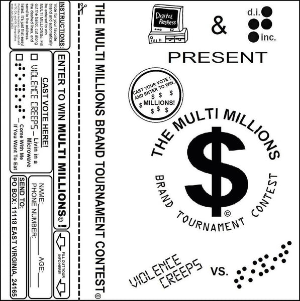 "Violence Creeps / Toyota ""The Multi Millions Brand Tournament Contest Tape Product"" Cass"