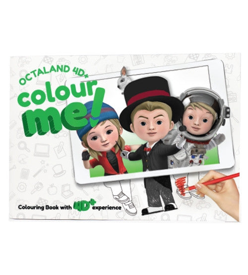 Octaland 4D+ Colour Me! Book - 4D Imagination