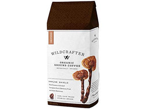 Wildcrafter Botanicals Organic Ground Coffee - Herbal Immune Booster Infused with Elderberry, Astragalus Root & Reishi Mushroom Blend. Includes 12 Ounces of Dark Roast, Immunity Boosting Ground Coffee
