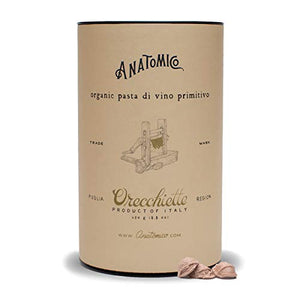 Primitivo Wine Orecchiette, Gourmet Pasta, Italian Pasta, Single Pack (8.8 Ounces)