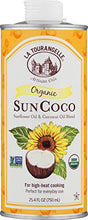 Load image into Gallery viewer, La Tourangelle Organic Sun Coco Oil 25.4 Fl. Oz., Neutral Flavor & High Smoke Point, Blend of Organic Sunflower Oil and Organic Coconut Oil