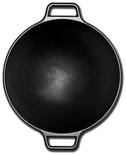 Load image into Gallery viewer, Lodge 14 Inch Cast Iron Wok. Pre-Seasoned Wok with Flattened Bottom for Asian Stir Fry and Sautees