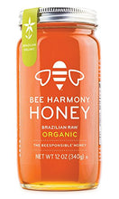 Load image into Gallery viewer, BEE HARMONY Organic Brazilian Raw Honey, 12 OZ