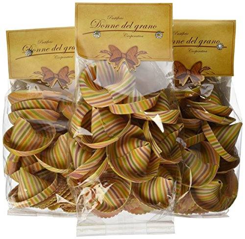 Italian Donne Del Grano Mexican Hats (Sombreroni) Natural Colored Pasta, 250 grams (Pack of 11)