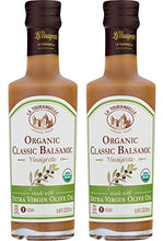 Load image into Gallery viewer, La Tourangelle Organic Classic Balsamic Vinaigrette, 8.45 fl. oz., 2-Bottle Pack, Salad Dressing and Marinade, Made with Organic Extra Virgin Olive Oil, Gluten-Free, Low Sodium, 2 Count