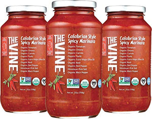 The Vine Calabrian Spicy Marinara, Low Sodium, 3-pack