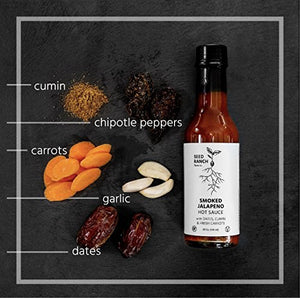 Seed Ranch - Smoked Jalapeno (Medium) - Spicy-Sweet Organic Gourmet Hot Sauce - Plant Based, Paleo Friendly, Low Carb