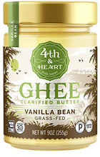 Load image into Gallery viewer, Vanilla Bean Grass-Fed Ghee Butter by 4th & Heart, 9 Ounce, Keto, Pasture Raised, Non-GMO, Lactose Free, Certified Paleo