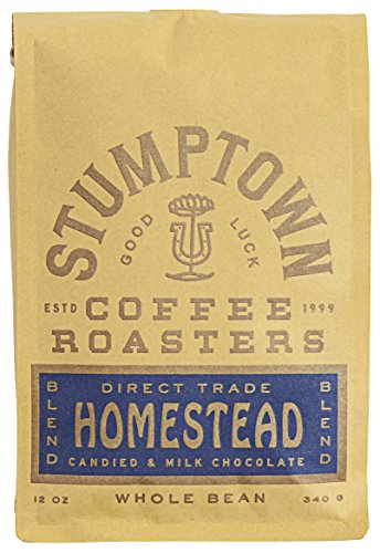 Stumptown Coffee Roasters Homestead Blend Whole Bean Coffee, 12 Ounce Bag, Flavor Notes of Milk Chocolate, Cherry and Orange