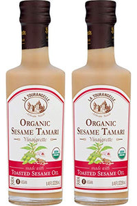 La Tourangelle Organic Sesame Tamari Vinaigrette, 8.45 fl. oz., 2-Bottle Pack, Salad Dressing and Marinade, Made with Organic Toasted Sesame Oil, Gluten-Free, Low Sodium, Naturally Sugar Free, 2 Count