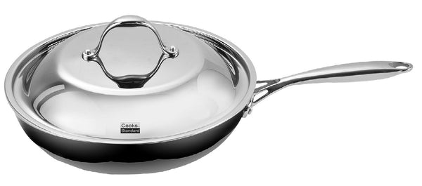Cooks Standard NC-00239 Stainless Steel Dome Lid 12-Inch Multi-Ply Clad Fry Pan, Silver