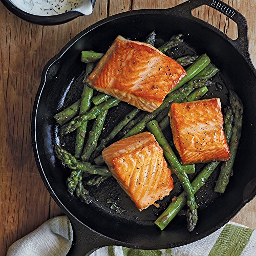 "Lodge L8SK3 10.25 inch Cast Iron Skillet, Pre-Seasoned and and Ready for Stove Top or Oven Use 10.25"" Black"