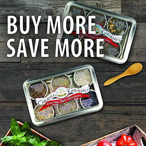The Smoked Sea Salt Sampler - 6 Resuable Tins with Bamboo Spoon - A Gift for Everyone - Naturally Smoked Bacon, Bacon Chipotle, Onion and Garlic, Alderwood, Garlic and Cherrywood - 1/2 oz each
